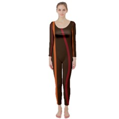 Colorful Striped Background Long Sleeve Catsuit