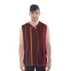 Colorful Striped Background Men s Basketball Tank Top
