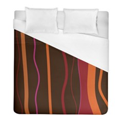 Colorful Striped Background Duvet Cover (Full/ Double Size)