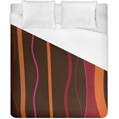 Colorful Striped Background Duvet Cover (California King Size)