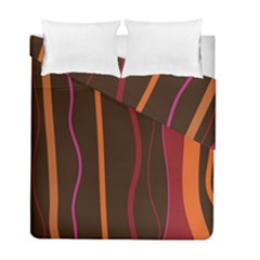 Colorful Striped Background Duvet Cover Double Side (Full/ Double Size)