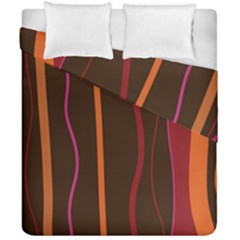 Colorful Striped Background Duvet Cover Double Side (California King Size)