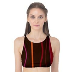 Colorful Striped Background Tank Bikini Top