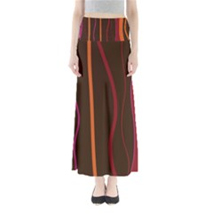 Colorful Striped Background Maxi Skirts