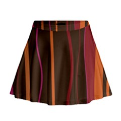 Colorful Striped Background Mini Flare Skirt