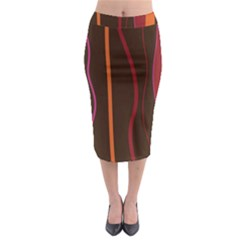 Colorful Striped Background Midi Pencil Skirt