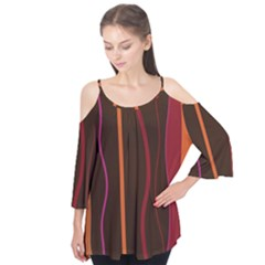Colorful Striped Background Flutter Tees