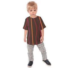 Colorful Striped Background Kids  Raglan Tee