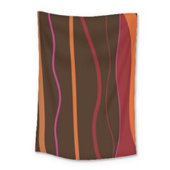 Colorful Striped Background Small Tapestry