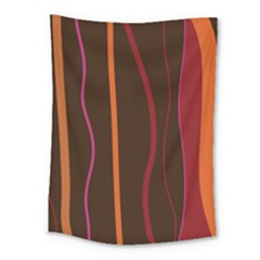 Colorful Striped Background Medium Tapestry