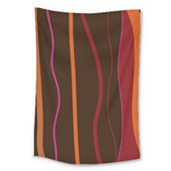 Colorful Striped Background Large Tapestry