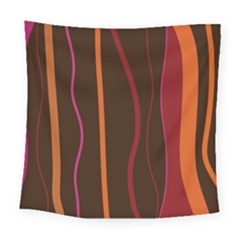 Colorful Striped Background Square Tapestry (Large)
