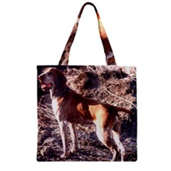 Bracco Italiano Full 2 Zipper Grocery Tote Bag