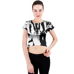 Lion  Crew Neck Crop Top