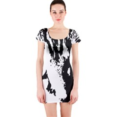 Lion  Short Sleeve Bodycon Dress