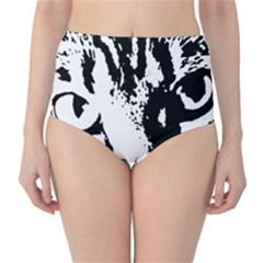 Lion  High-Waist Bikini Bottoms