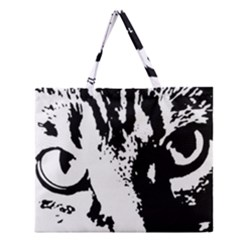 Lion  Zipper Large Tote Bag