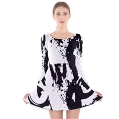 Lion  Long Sleeve Velvet Skater Dress