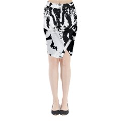 Lion  Midi Wrap Pencil Skirt