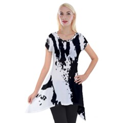 Lion  Short Sleeve Side Drop Tunic