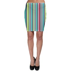 Colorful Striped Background. Bodycon Skirt