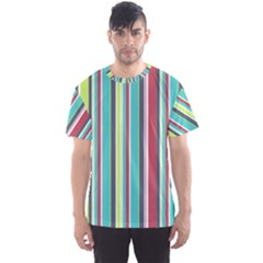 Colorful Striped Background. Men s Sport Mesh Tee