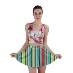 Colorful Striped Background. Mini Skirt