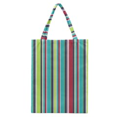 Colorful Striped Background. Classic Tote Bag