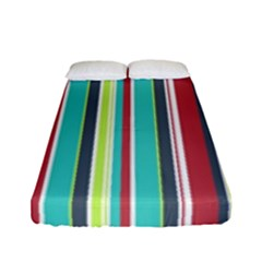 Colorful Striped Background. Fitted Sheet (Full/ Double Size)