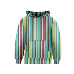 Colorful Striped Background. Kids  Pullover Hoodie