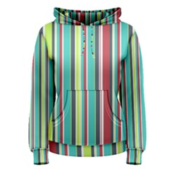 Colorful Striped Background. Women s Pullover Hoodie