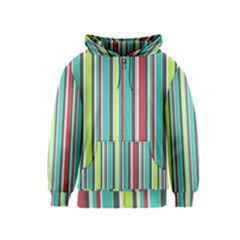 Colorful Striped Background. Kids  Zipper Hoodie