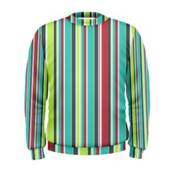 Colorful Striped Background. Men s Sweatshirt