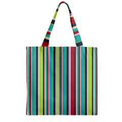 Colorful Striped Background. Zipper Grocery Tote Bag