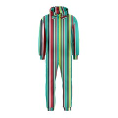 Colorful Striped Background. Hooded Jumpsuit (Kids)