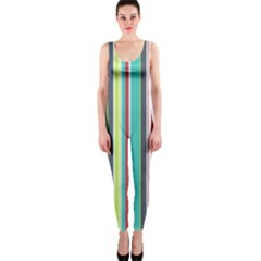 Colorful Striped Background. OnePiece Catsuit