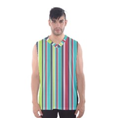 Colorful Striped Background. Men s Basketball Tank Top