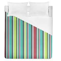 Colorful Striped Background. Duvet Cover (Queen Size)