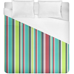 Colorful Striped Background. Duvet Cover (King Size)