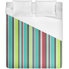 Colorful Striped Background. Duvet Cover (California King Size)