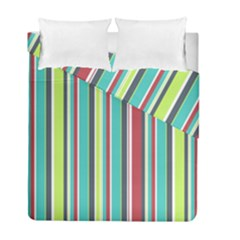 Colorful Striped Background. Duvet Cover Double Side (Full/ Double Size)