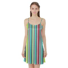 Colorful Striped Background. Satin Night Slip