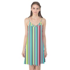 Colorful Striped Background. Camis Nightgown