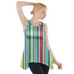 Colorful Striped Background. Side Drop Tank Tunic