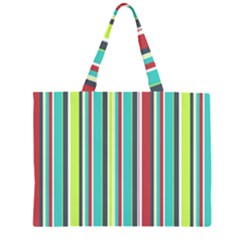 Colorful Striped Background. Large Tote Bag