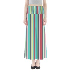 Colorful Striped Background. Maxi Skirts