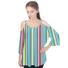 Colorful Striped Background. Flutter Tees