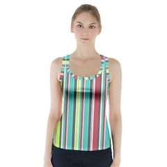 Colorful Striped Background. Racer Back Sports Top