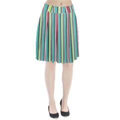 Colorful Striped Background. Pleated Skirt