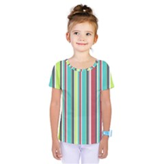 Colorful Striped Background. Kids  One Piece Tee